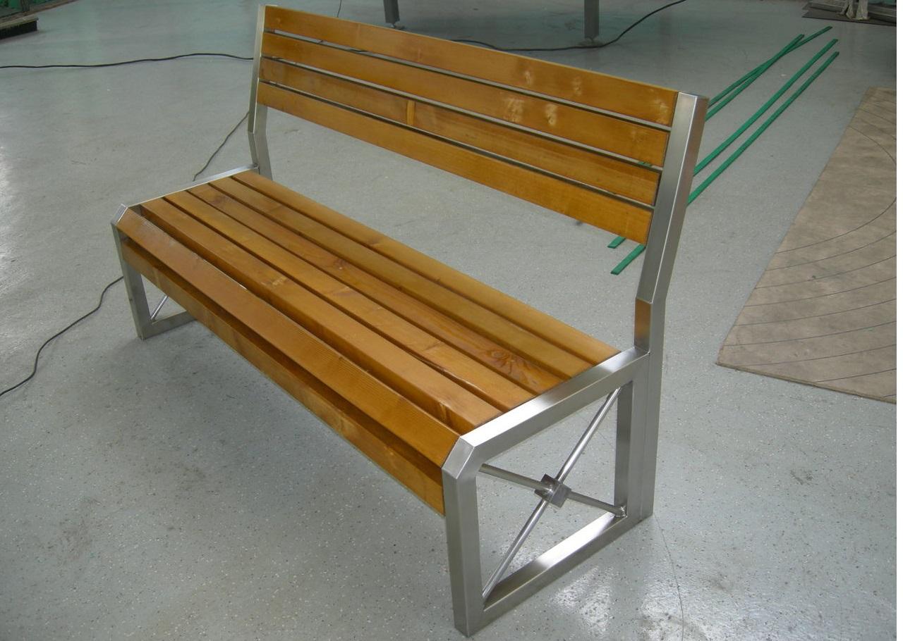 Скамейки своими руками из металла размеры фото7